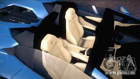 Lamborghini Aventador Roadster pour GTA San Andreas vue intérieure