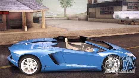 Lamborghini Aventador Roadster pour GTA San Andreas laissé vue