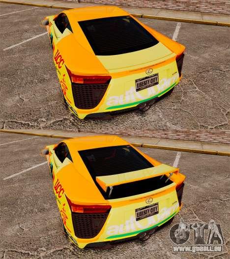 Lexus LF-A 2010 [EPM] Goodsmile Racing für GTA 4 Seitenansicht