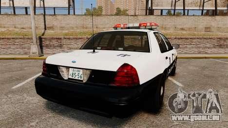 Ford Crown Victoria Japanese Police [ELS] pour GTA 4 Vue arrière de la gauche