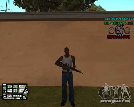 C-HUD Diamond Emerald pour GTA San Andreas