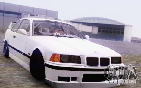BMW M3 E36 Hellaflush pour GTA San Andreas vue arrière