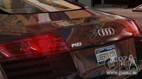 Audi R8 v1.1 pour GTA 4 est une vue de l'intérieur