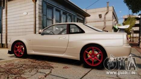 Nissan Skyline GT-R R34 V-Spec II für GTA 4 linke Ansicht