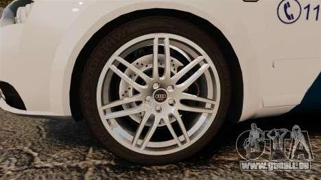 Audi S4 Avant Hungarian Police [ELS] für GTA 4 Rückansicht
