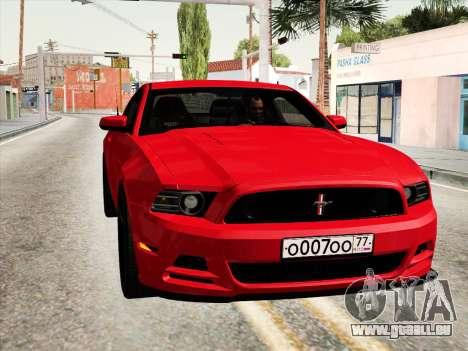 Ford Mustang Boss 302 2013 pour GTA San Andreas vue de droite