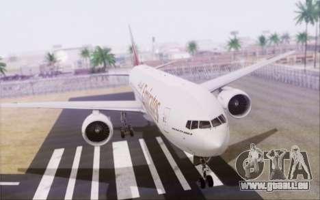 Emirates Airlines 777-200 für GTA San Andreas linke Ansicht