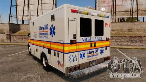 Brute Speedo LEMS Ambulance [ELS] für GTA 4 hinten links Ansicht