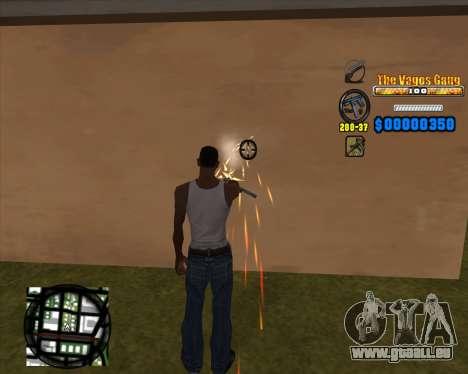 C-HUD Los Santos Vagos Gang pour GTA San Andreas troisième écran