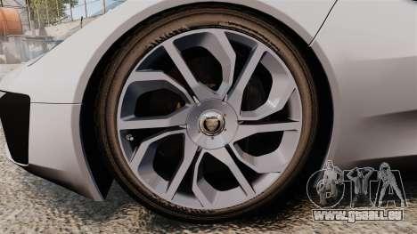 Jaguar C-X75 [EPM] Carbon Series für GTA 4 Rückansicht