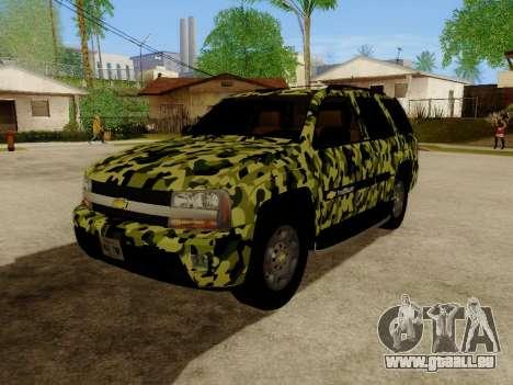 Chevrolet TrailBlazer Army für GTA San Andreas