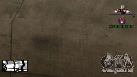 C-HUD Iron Man pour GTA San Andreas troisième écran