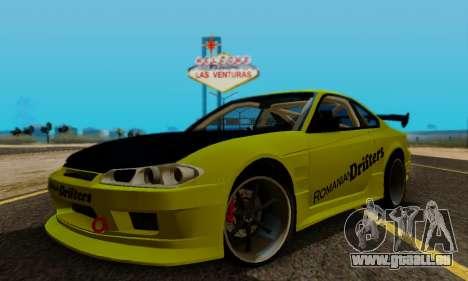 Nissan Silvia S15 Romanian Drifters für GTA San Andreas Seitenansicht
