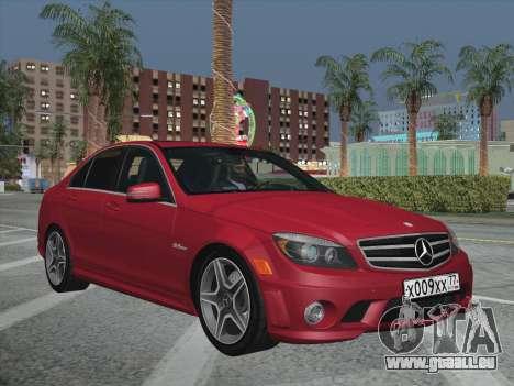 Mercedes-Benz C63 AMG HQLM pour GTA San Andreas vue intérieure