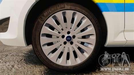 Ford Mondeo Croatian Police [ELS] für GTA 4 Rückansicht