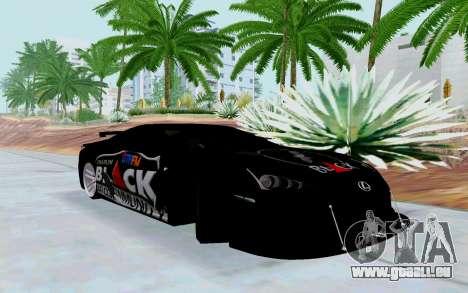 Lexus LFA Street Edition Djarum Black pour GTA San Andreas