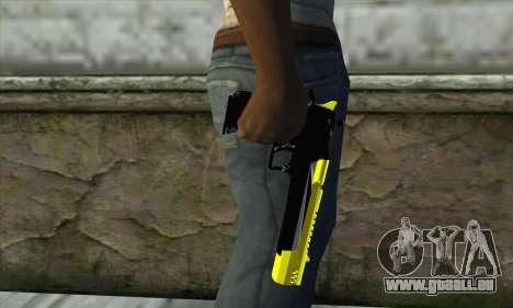 Yellow Desert Eagle pour GTA San Andreas troisième écran