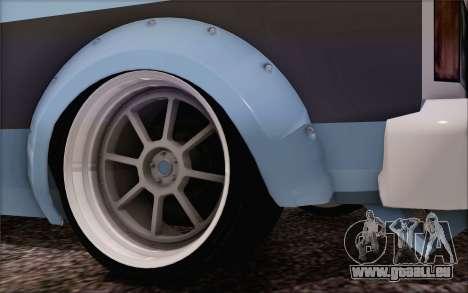 Regina Widebody V8 für GTA San Andreas zurück linke Ansicht