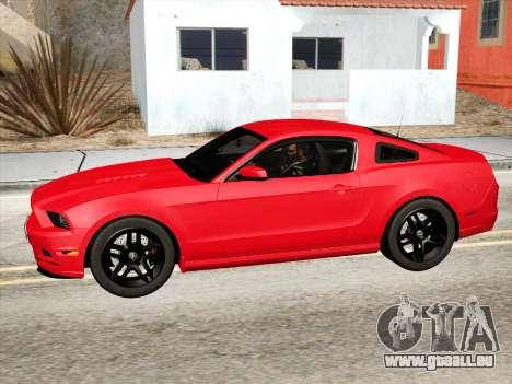 Ford Mustang Boss 302 2013 pour GTA San Andreas laissé vue