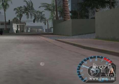 Le compteur de vitesse de NFS Underground GTA Vice City pour la troisième écran