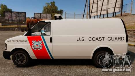 Vapid Speedo U.S. Coast Guard für GTA 4 linke Ansicht