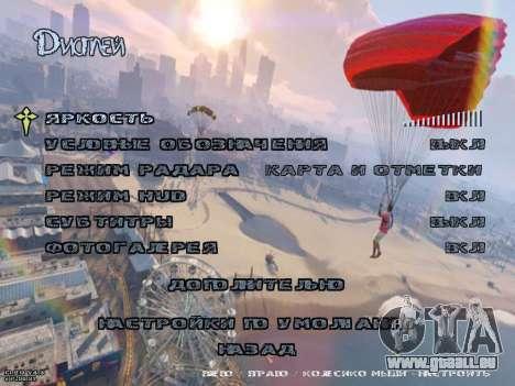 New Menu GTA 5 für GTA San Andreas her Screenshot