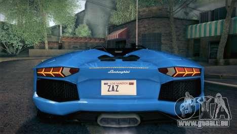 Lamborghini Aventador Roadster für GTA San Andreas