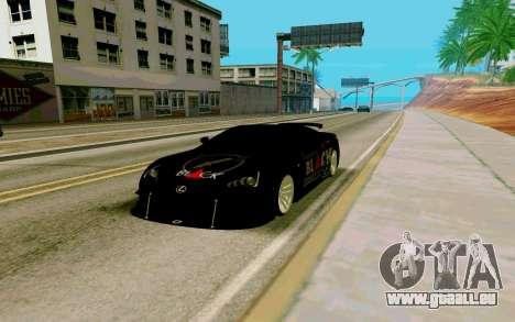Lexus LFA Street Edition Djarum Black pour GTA San Andreas vue de droite