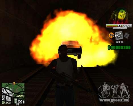 C-HUD Bob Marley pour GTA San Andreas troisième écran