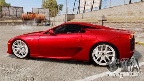 Lexus LF-A 2010 v2.0 [EPM] Final Version pour GTA 4 est une gauche