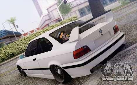 BMW M3 E36 Hellaflush pour GTA San Andreas laissé vue