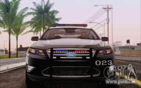 Ford Taurus Police für GTA San Andreas zurück linke Ansicht