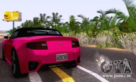 GTA V Rapid GT Cabrio für GTA San Andreas Innenansicht