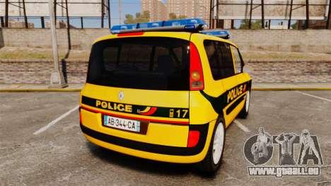 Renault Espace Police Nationale [ELS] für GTA 4 hinten links Ansicht