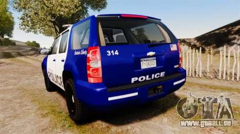 Chevrolet Tahoe 2008 LCPD [ELS] pour GTA 4 Vue arrière de la gauche