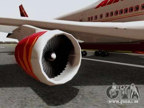 Boeing 747 Air India pour GTA San Andreas vue de droite