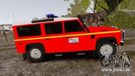Land Rover Defender VLHR SDIS 42 [ELS] pour GTA 4 est une gauche