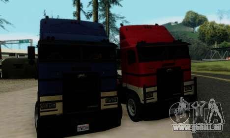 Hauler GTA V pour GTA San Andreas vue intérieure
