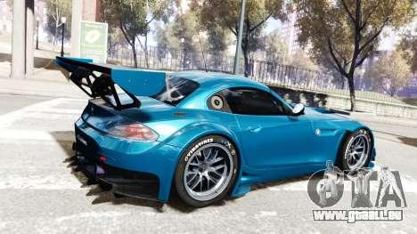 BMW Z4 GT3 2012 für GTA 4 Rückansicht