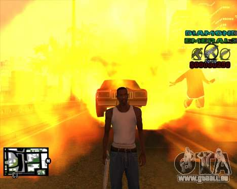 C-HUD Diamond Emerald für GTA San Andreas dritten Screenshot