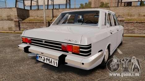 IKCO Paykan 1970 pour GTA 4 Vue arrière de la gauche