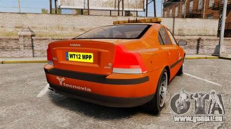 Volvo S60 tecnovia [ELS] pour GTA 4 Vue arrière de la gauche