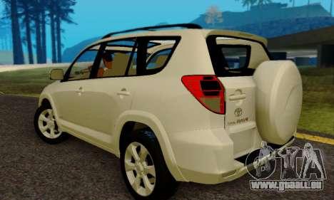Toyota RAV4 pour GTA San Andreas sur la vue arrière gauche
