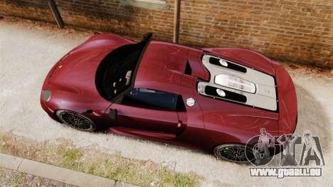 Porsche 918 Spyder für GTA 4 rechte Ansicht