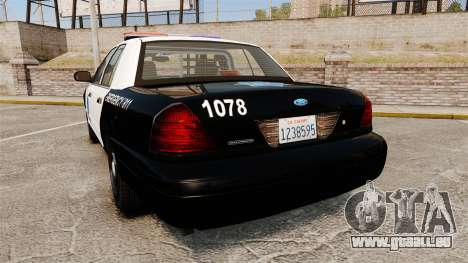 Ford Crown Victoria San Francisco Police [ELS] für GTA 4 hinten links Ansicht