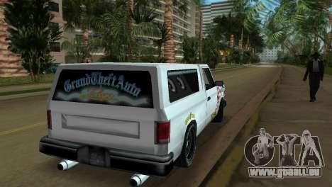 Bobcat Turbo pour GTA Vice City vue latérale