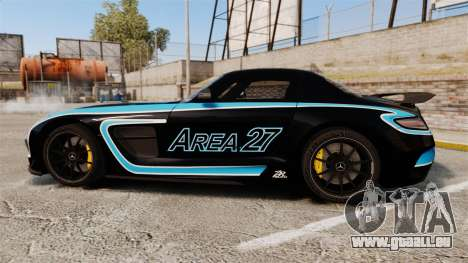 Mercedes-Benz SLS 2014 AMG Black Series Area 27 für GTA 4 linke Ansicht