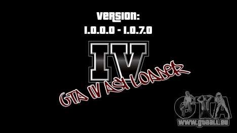 ASI Loader pour GTA IV 1.0.7.0-EN 1.0.0.0 pour GTA 4