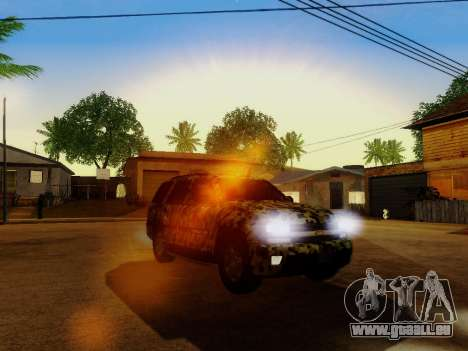 Chevrolet TrailBlazer Army für GTA San Andreas obere Ansicht