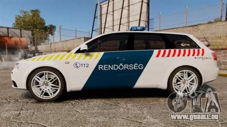 Audi S4 Avant Hungarian Police [ELS] pour GTA 4 est une gauche